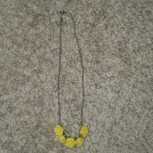 Yellow rose necklace